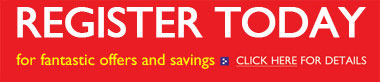 Register today for fantastic offers and savings